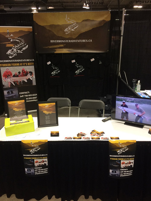 River Monsters Adventures Booth At The Calgary Boat Show