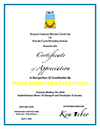 Saskatchewan Rivers Certificate of Appreciation