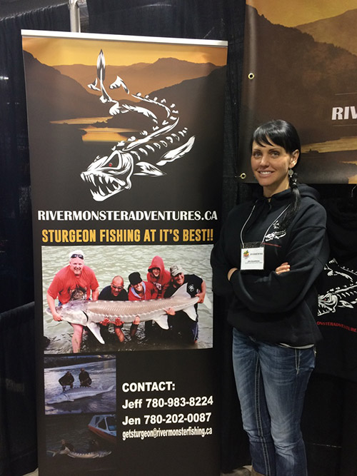 River Monster Adventures Jen At The Calgary Boat Show