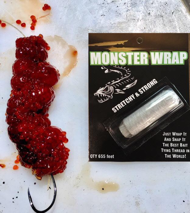Monster Wrap Pro-Bait Tie In Use
